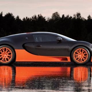 Unikt porslinifierad Bugatti