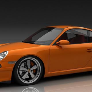 Brun Porsche 911 RS går under klubban