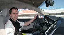 Eric Lund försöker sortera intrycken på Las Vegas Motor Speedway. And off we go!