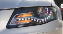 Audis serpentindesign i strålkastarna fortsätter, så här löper LED-ormen i nya A4.