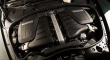 En mild uppgradering har lockat från 50 nya hästkrafter ur W12-motorn på sex liter. W-formatet har sitt ursprung i Volkswagens VR6-motor.