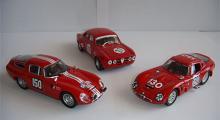 Alfa Romeo T.Z. Tubolare Zagato (Best), GTAM (Progetto), TZ II (Best). Skala 1:43.