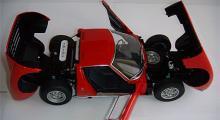 Lamborghini Miura SV (Auto Art). Skala 1:18. Min finaste modellbil tillsammans med Alfa 1750 GTV.