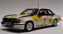 Opel Ascona 400 från Svenska rallyt 1980, besättning Anders Kulläng och Bruno Berglund. Skala 1:43.
