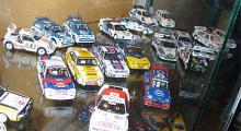 Resterande samling Gruppe B-bilar i skala 1:43.