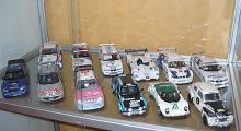 Min samling tävlingsbilar i skala 1:18.