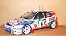 Toyota Corolla WRC från Autoart, skala 1:18. Den absolut snyggaste WRC-bil som gjorts.