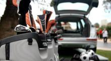 Audi Q5 sväljer mycket om än inte samma volymer som Q7. Fast, någon mini-suv finns inte att hitta i Q5. Den breder ut sig åt alla håll och kanter.