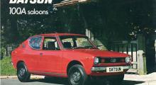 Datsun 100A 1976, not ready to race men framhjulsdriven.