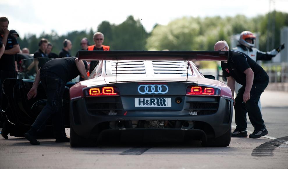 Fet bakdel på Audi R8 LMS.