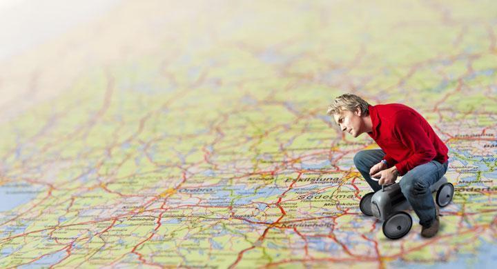 Fastnade på tågspår efter att ha följt GPS