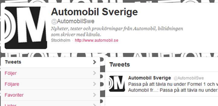 Följ Automobil på Twitter